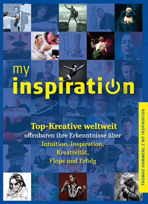 "Buchcover: Thomas Hammerl -  ""my inspiration"" - Design by Harald Sianos"